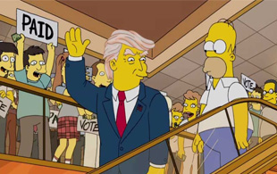 La parodia de Los Simpsons a Donald Trump